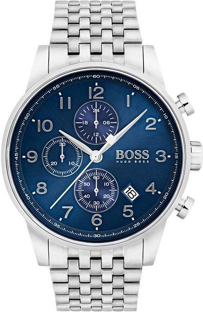 Herren Boss Chronograph NAVIGATOR CLASSIC 1513498 silber   07613272234351