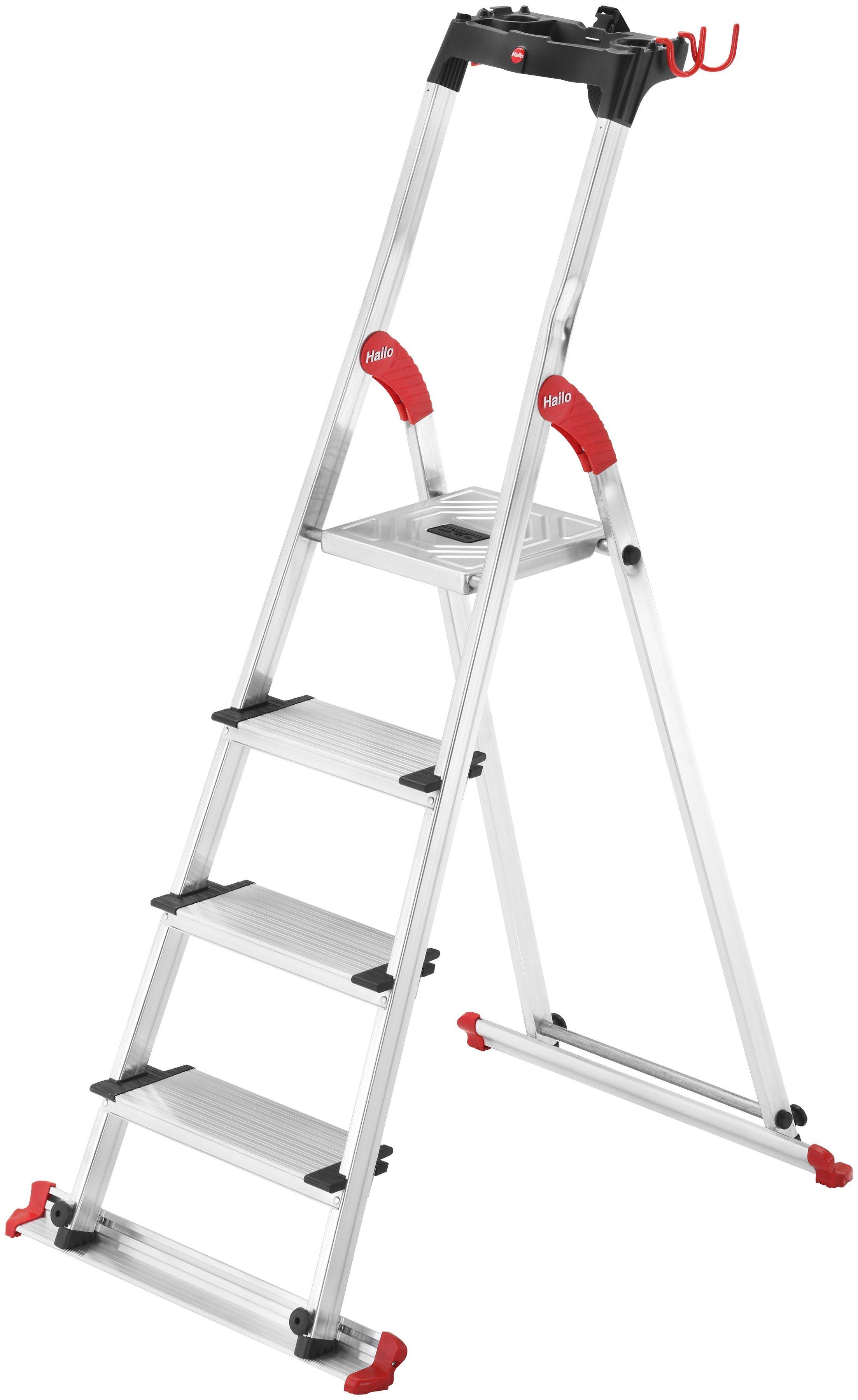 Hailo Sicherheitstrittleiter »XXL Garden & Home EasyClix« | Baumarkt > Leitern und Treppen > Trittleiter | Hailo