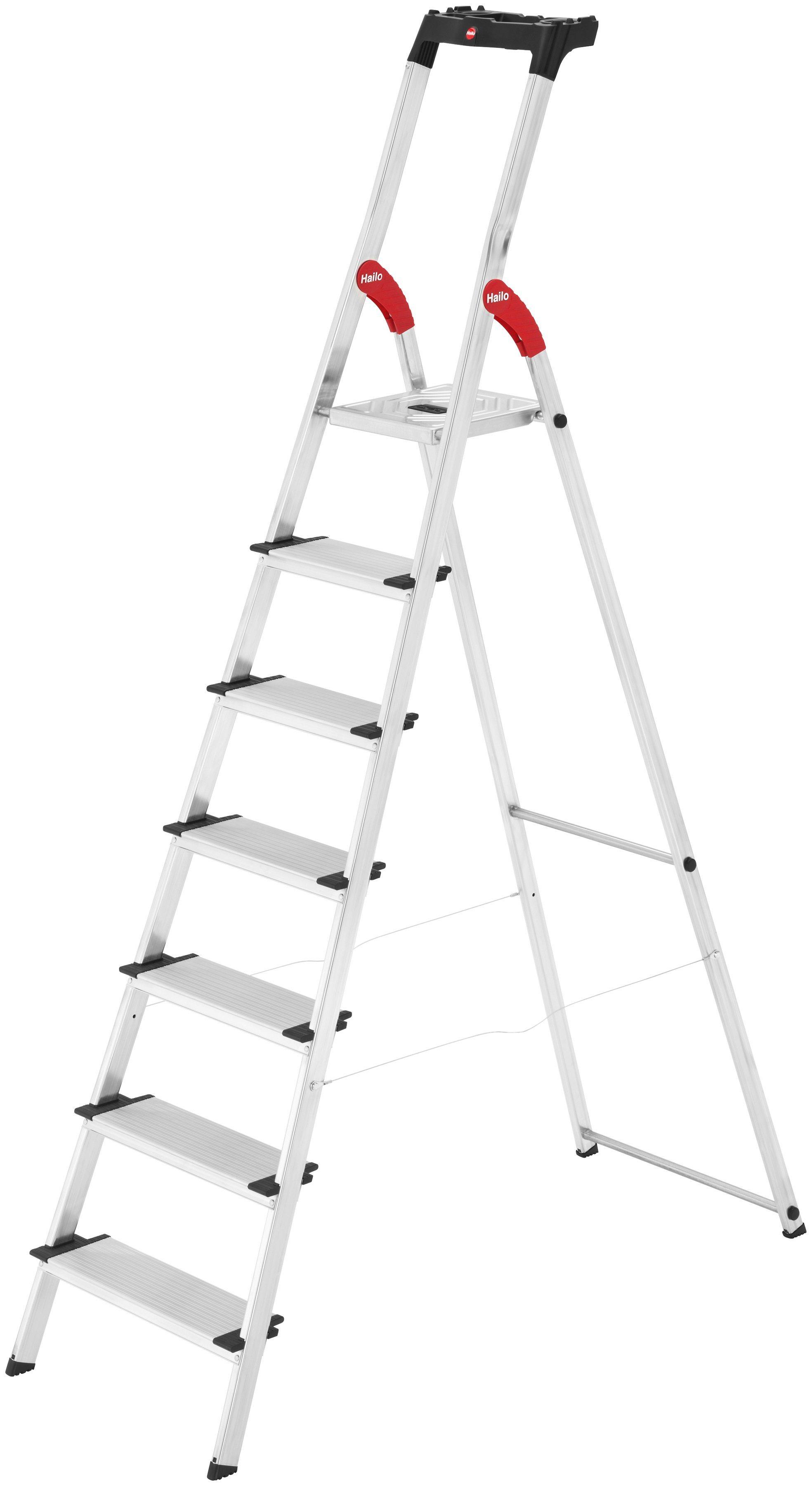 Hailo Sicherheitstrittleiter »XXL EasyClix« | Baumarkt > Leitern und Treppen > Trittleiter | Hailo