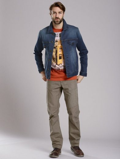 Men Plus by Happy Size Jeansjacke aus Jog-Denim