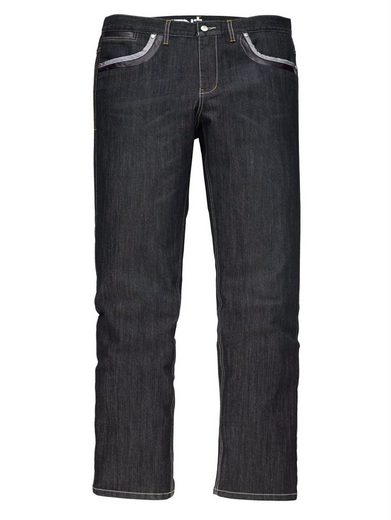 Men Plus By Happy Size Jeans With Denim And Leather Faux-painting And Decorating