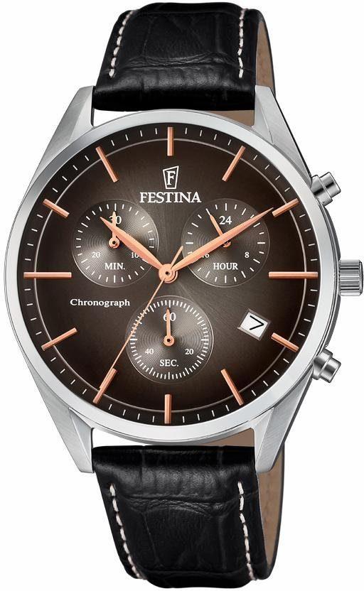 Festina Chronograph »Retro, F6860/4« mit dezentraler Sekunde