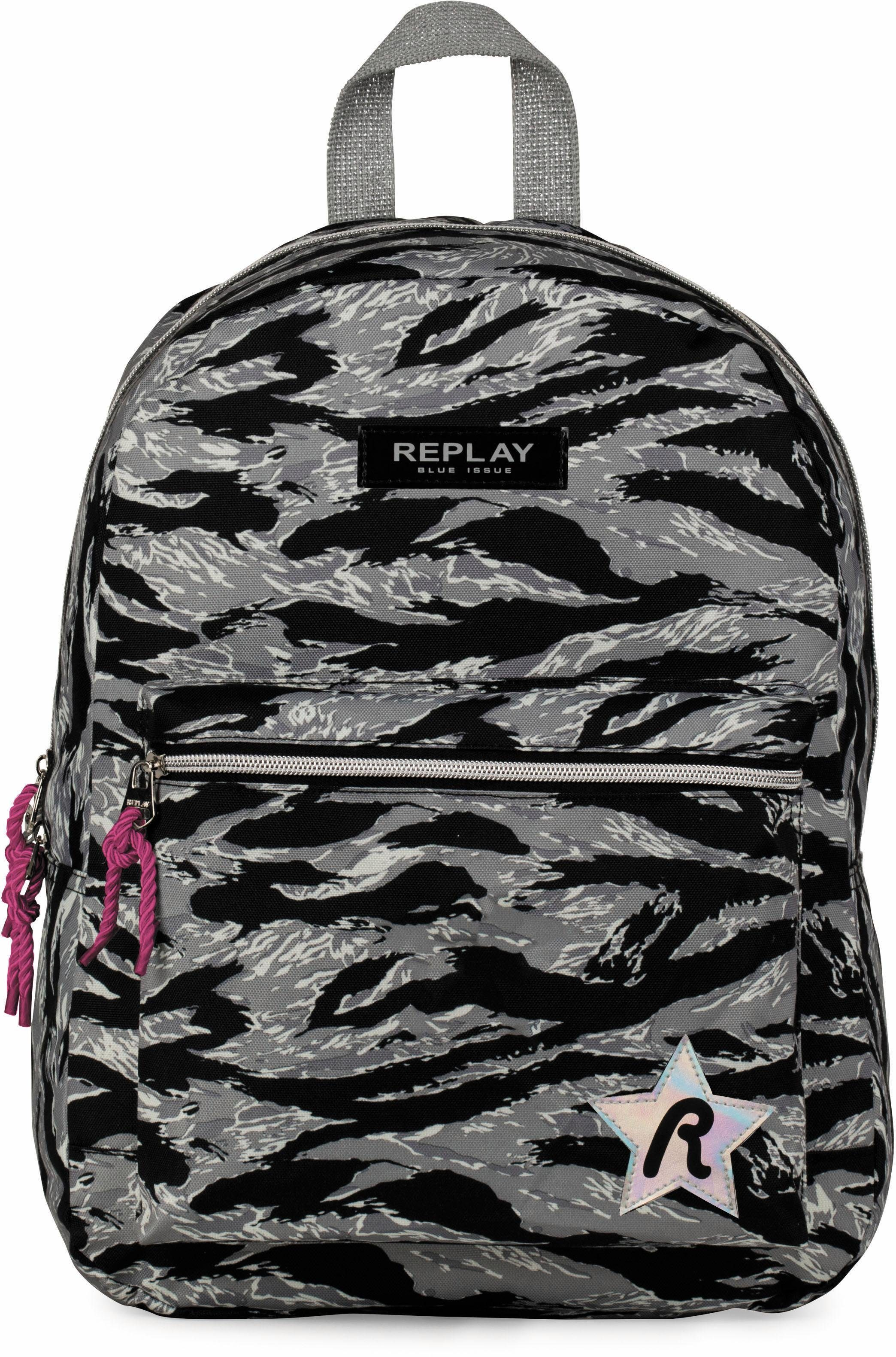 REPLAY Rucksack, »Fashion Girls, grau camo«