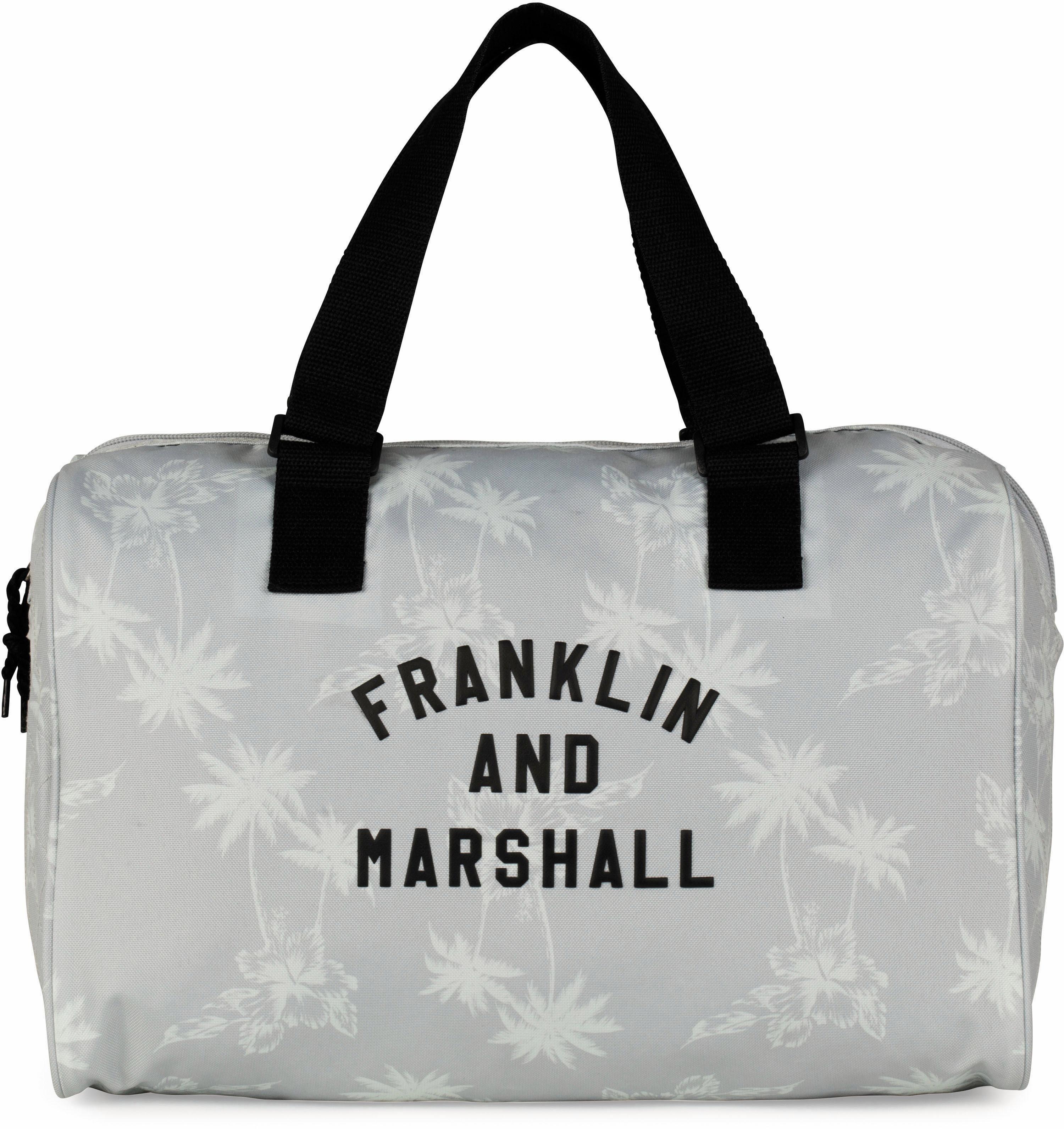 Franklin & Marshall Schultertasche, »Girls, Palmen, grau«