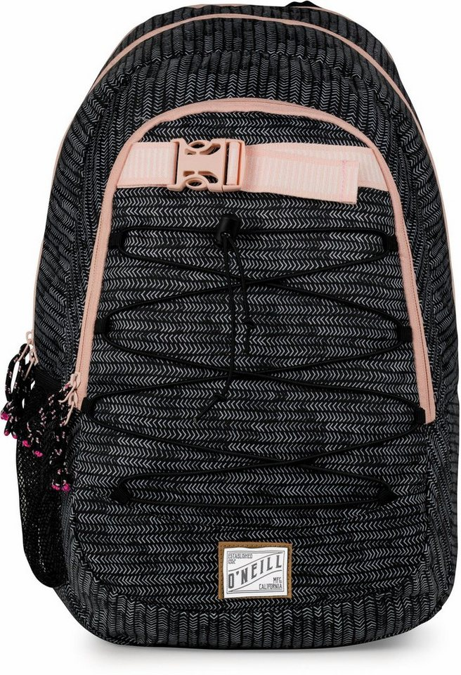 o neill rucksack mit 2 hauptf chern girls ergo schwarz wei online kaufen otto