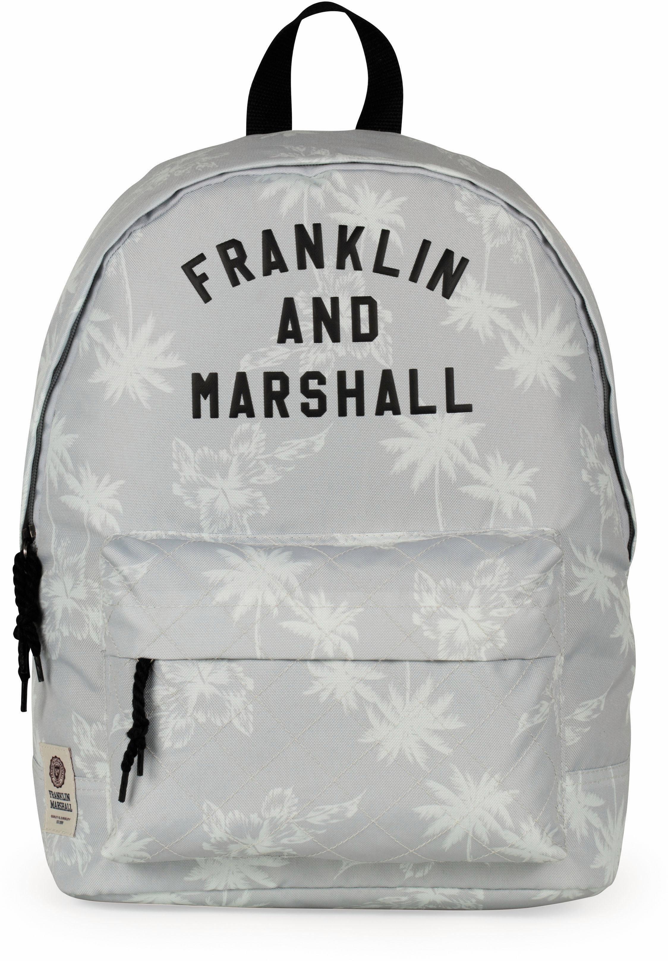 Franklin & Marshall Rucksack, »Girls, Palmen, grau«