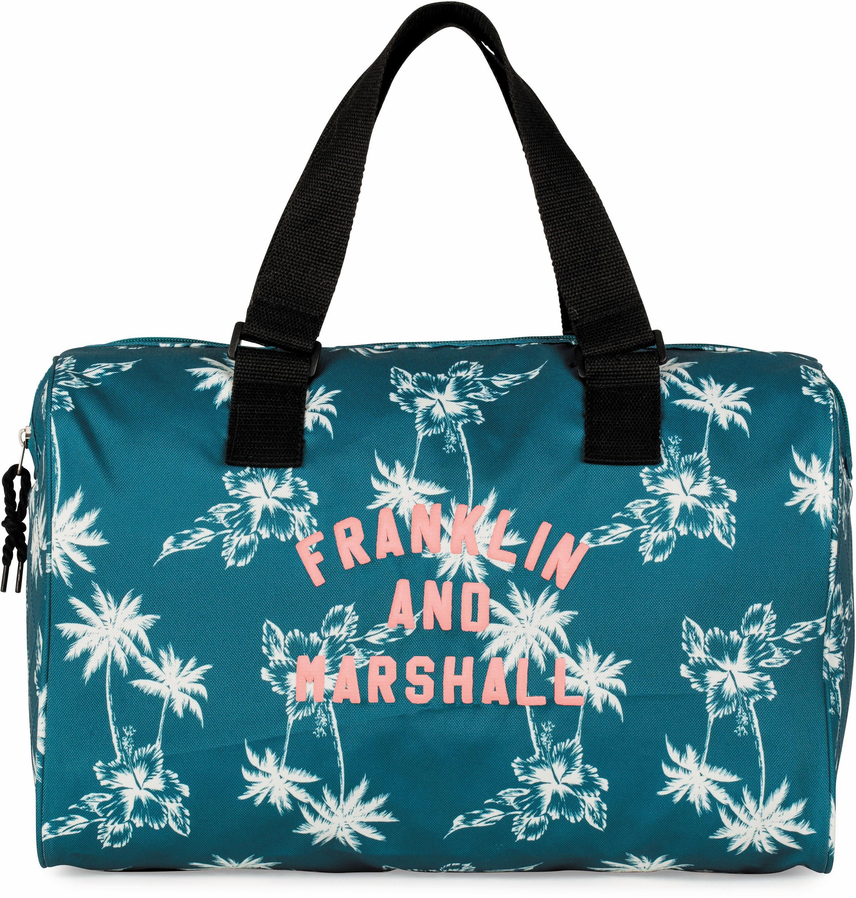 Franklin & Marshall Schultertasche, »Girls, Palmen, petrol«