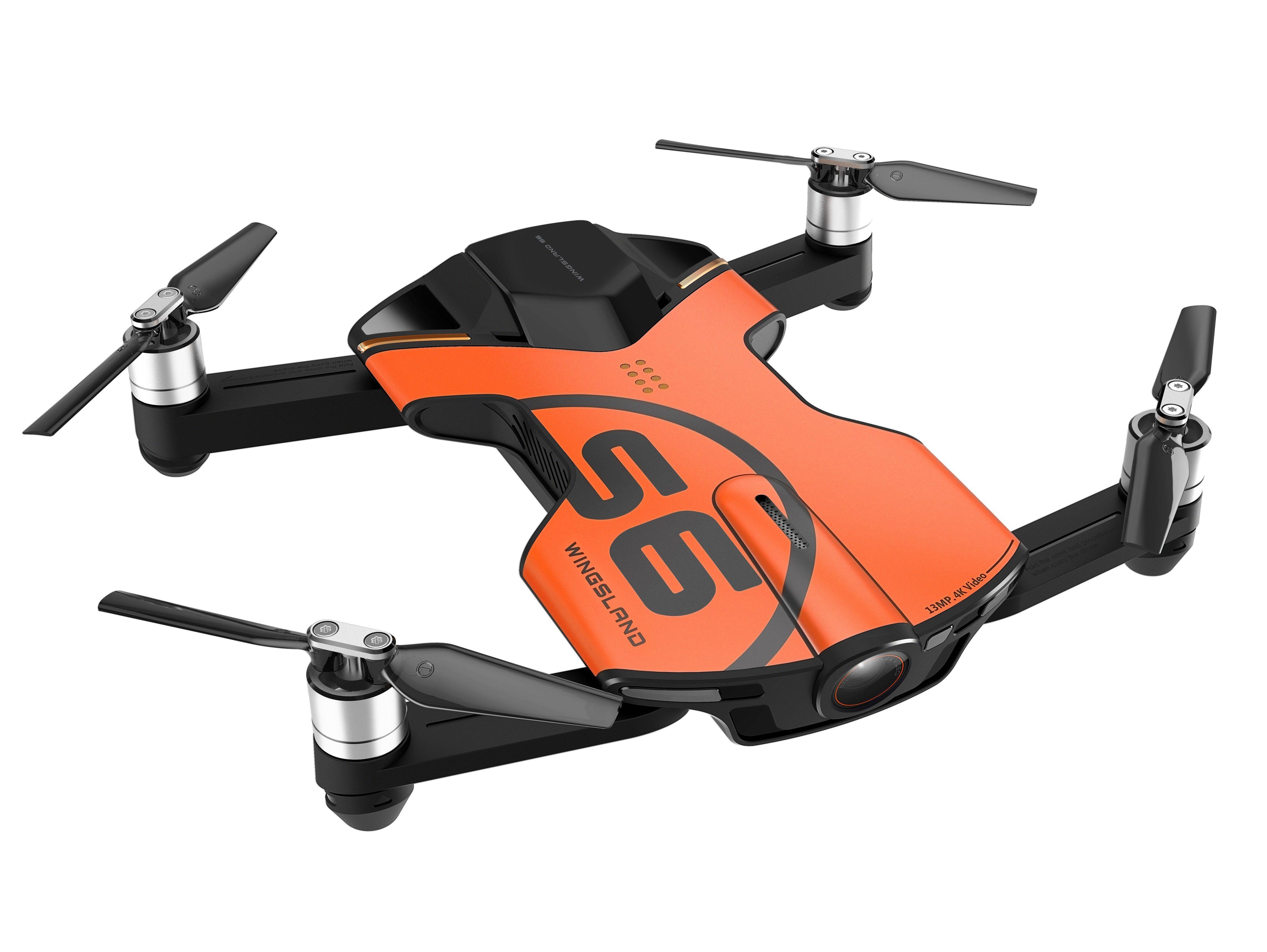 Wingsland Premium Pocket Drohne / Quadrokopter mit 4K Kamera & WiFi »Wingsland S6«