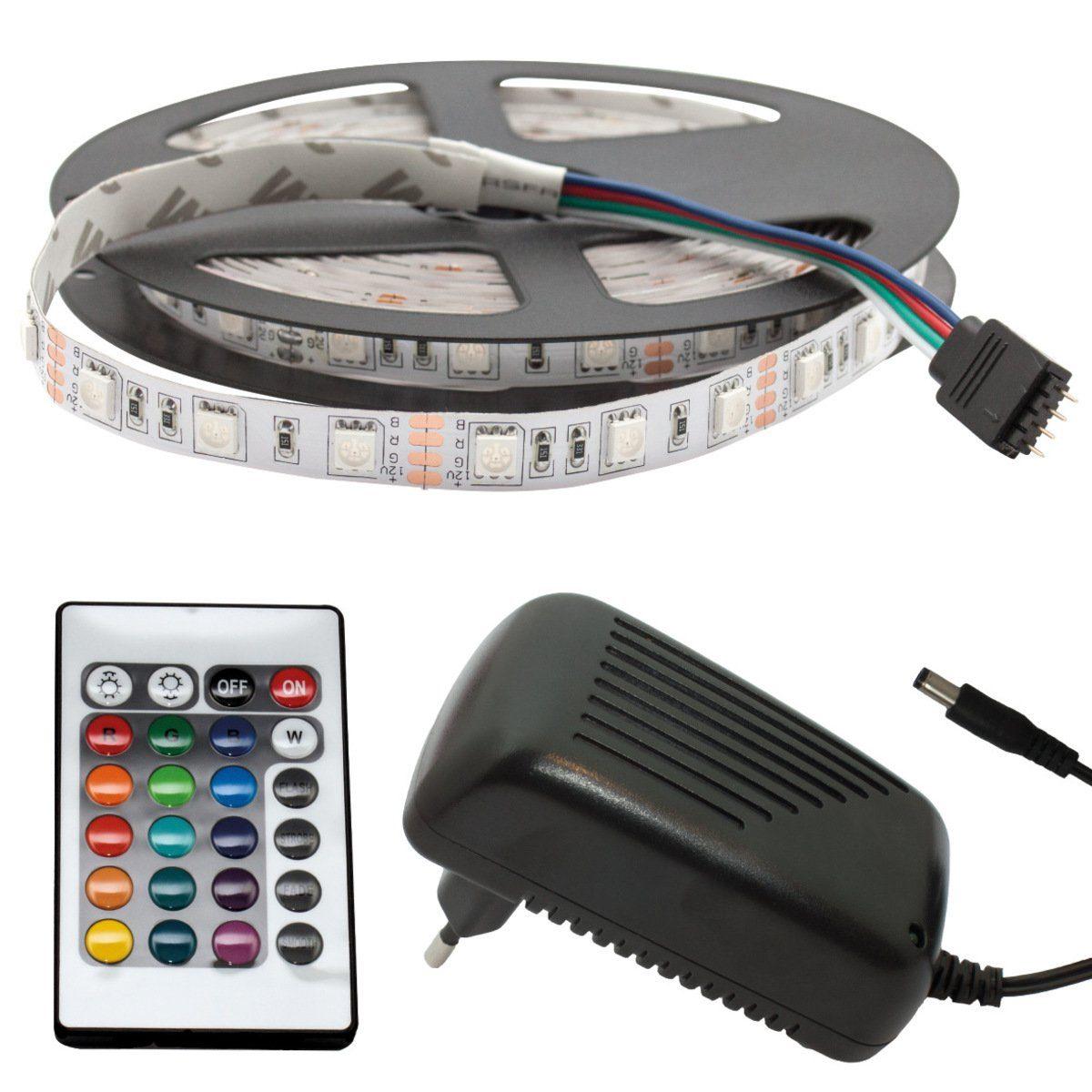 SeKi LED-RGB Streifen »mit Controller und Netzteil«