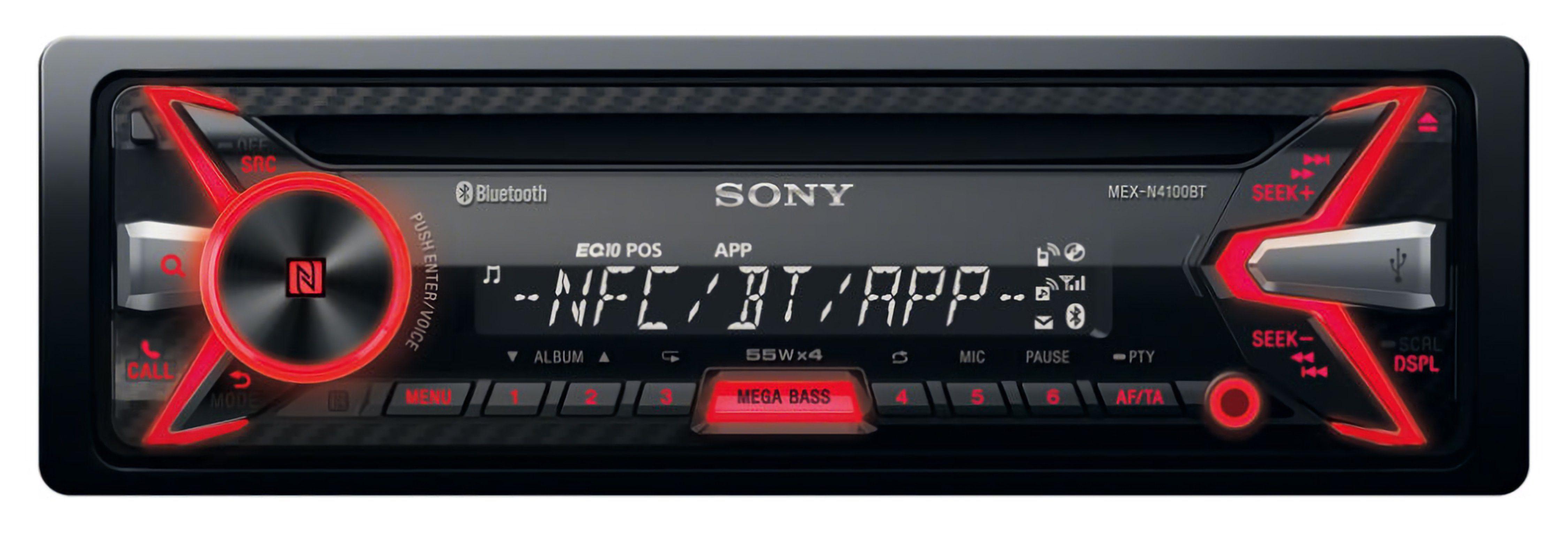 Sony 1-DIN Media Receiver mit Bluetooth »MEX-N4100BT«
