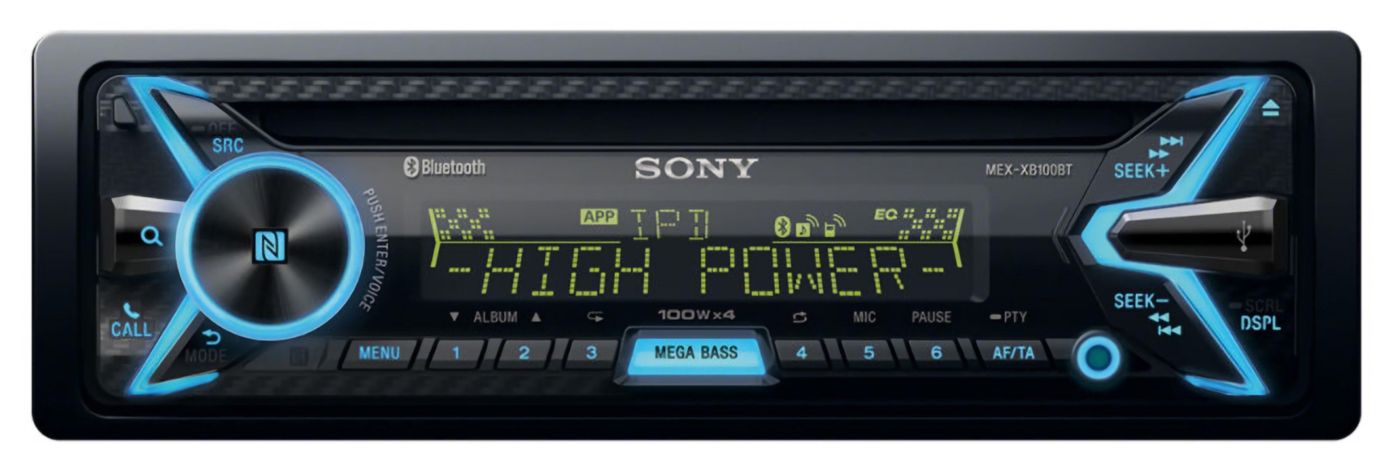 Sony 1-DIN CD-Receiver mit Bluetooth »MEX-XB100BT«
