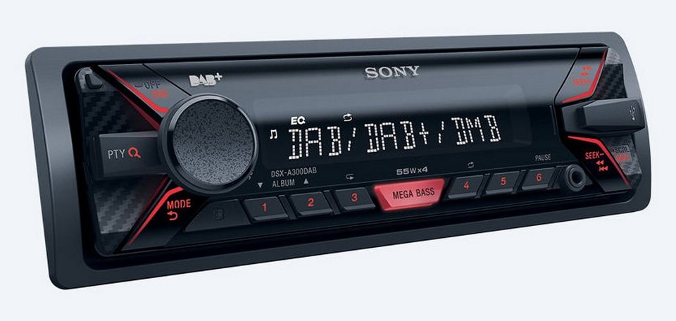 sony 1 din autoradio mit usb bluetooth dsx a300dkitei online kaufen otto. Black Bedroom Furniture Sets. Home Design Ideas