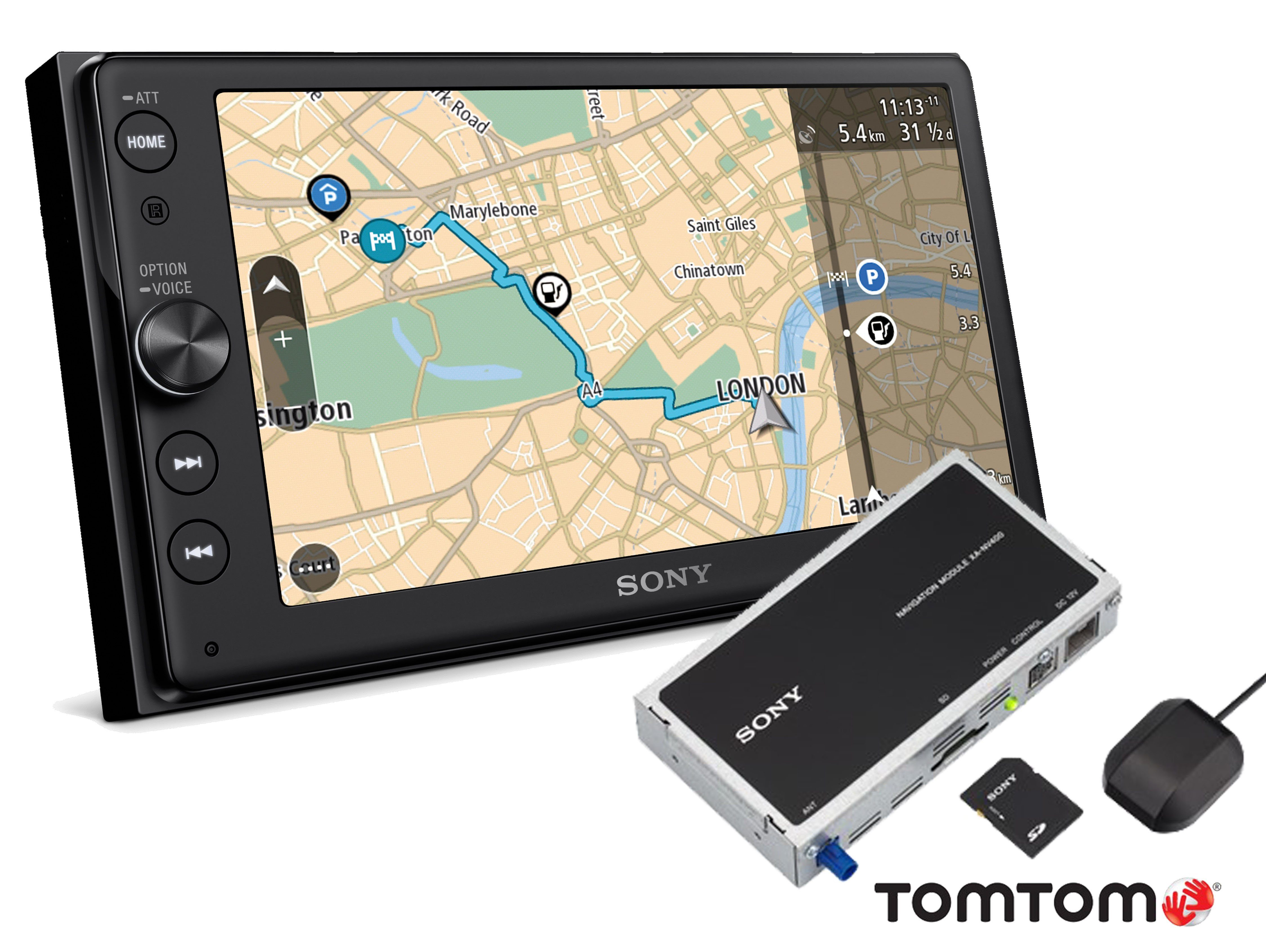 Sony 2-DIN Moniceiver mit Touch Display & TomTom Navigationsmodul »XNV-KIT100«