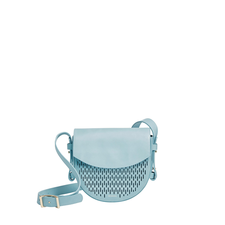 Skagen Umhängetasche »LOBELLE Saddle Bag«, aus Leder mit schöner Perforation