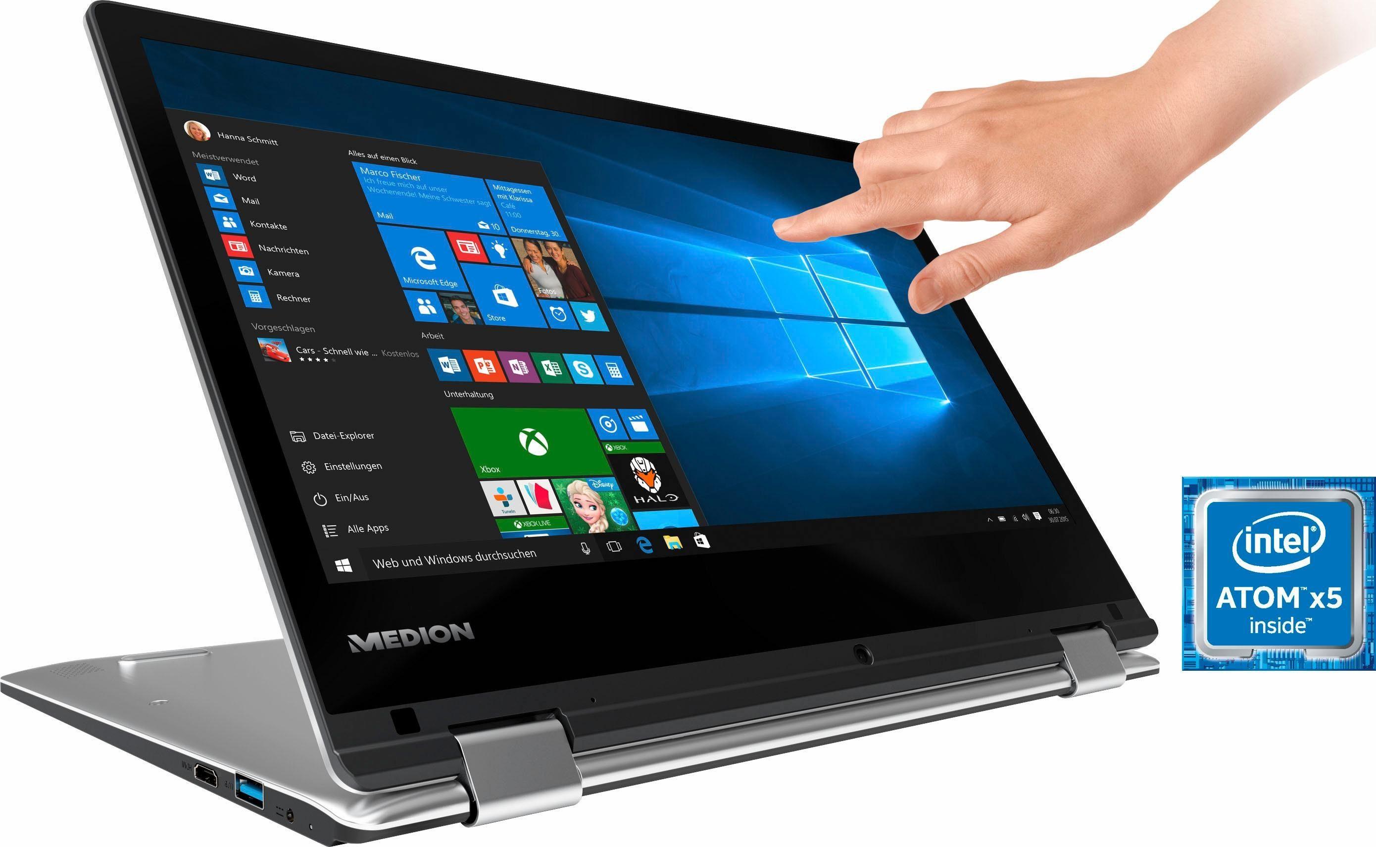 Medion® AKOYA® E2227T (MD60724) Convertible Notebook, 64 GB eMMC, 4 GB RAM, 29,5 cm (11,6 Zoll)