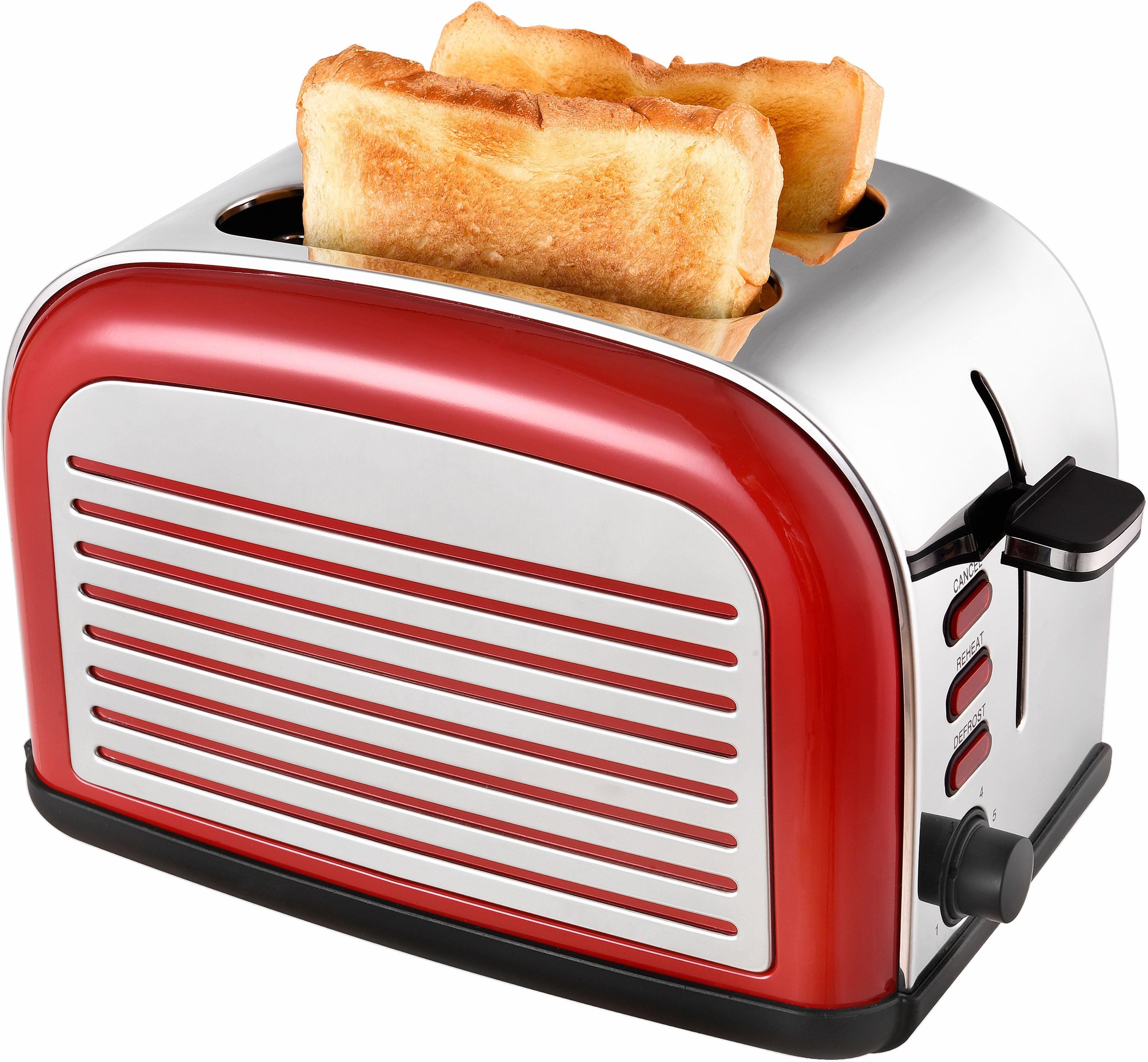 Team Kalorik Toaster TKG TO 2500 R, für 2 Scheiben, 1050 W