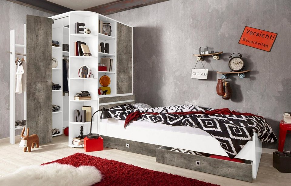 wimex jugendzimmer sparset jork 4 tlg kaufen otto. Black Bedroom Furniture Sets. Home Design Ideas