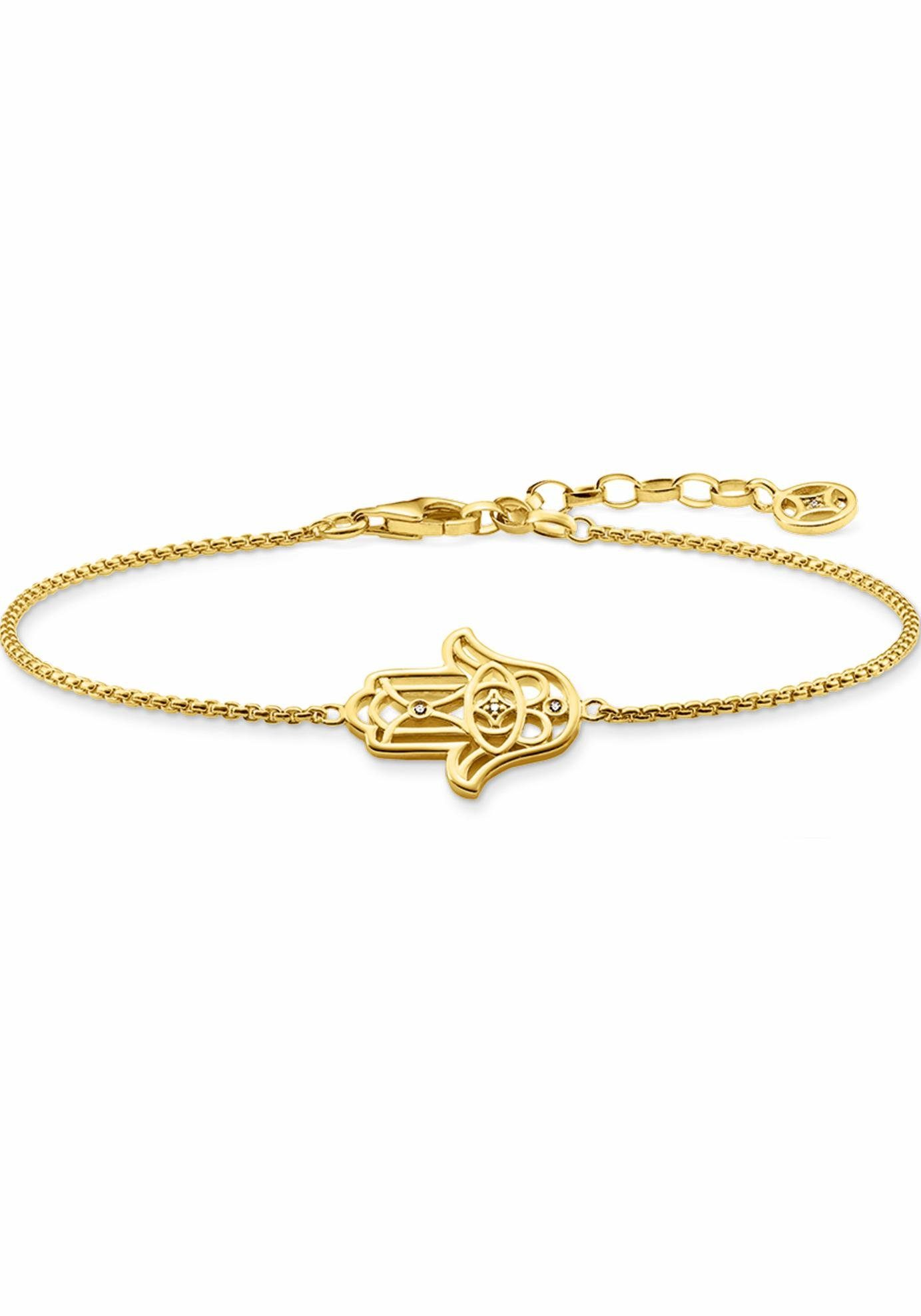 THOMAS SABO Armband »Fatimas Hand Ornamentik, D_A0020-924-39-L19v« mit Diamanten