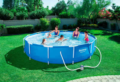 Awesome Bestway Set Framepool Steel Pro Max Mit Filterpumpe Xh With Pool  Garten Aufblasbar