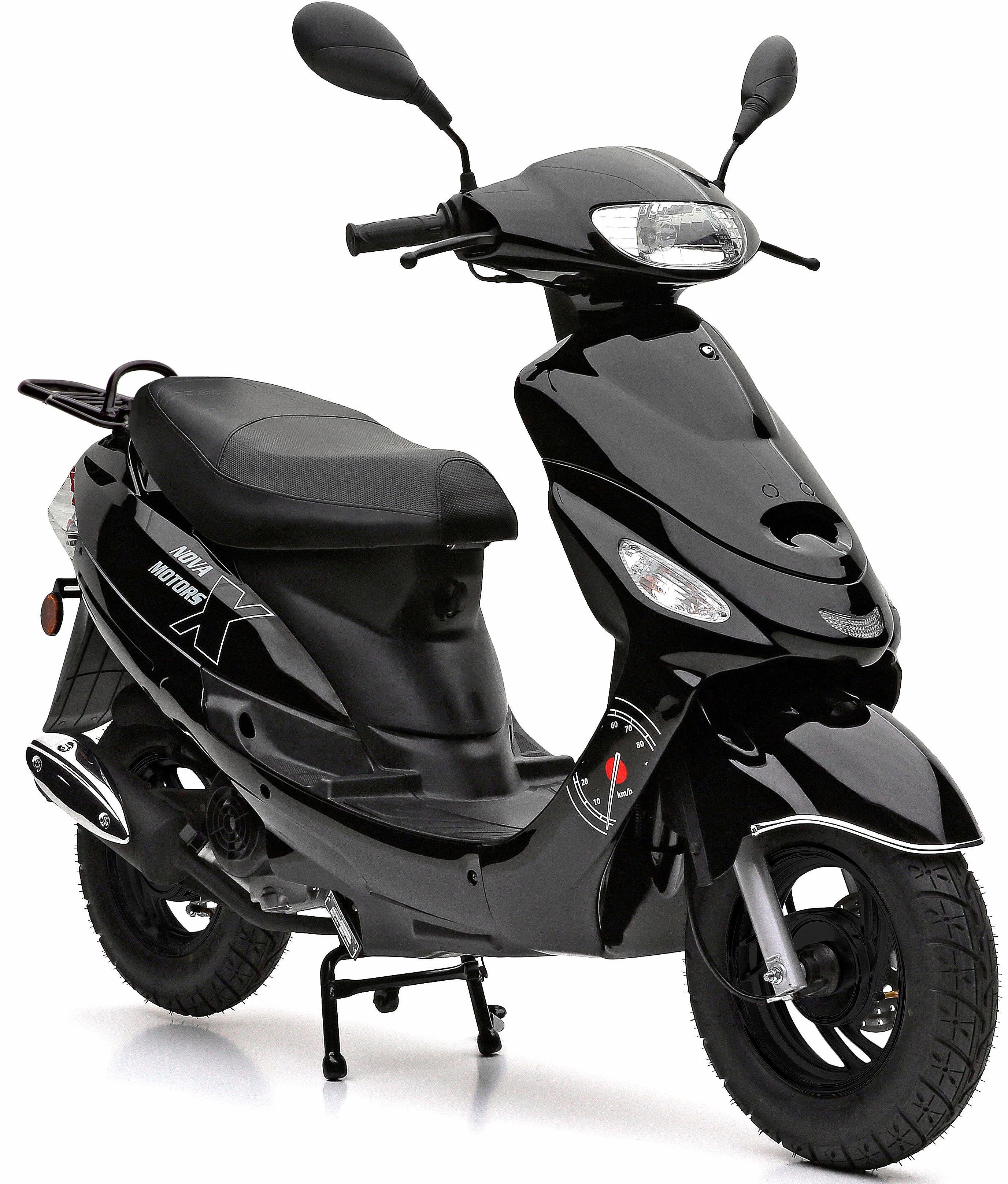 Nova Motors Mofaroller, 49 ccm, 25 km/h, schwarz, »City Star«