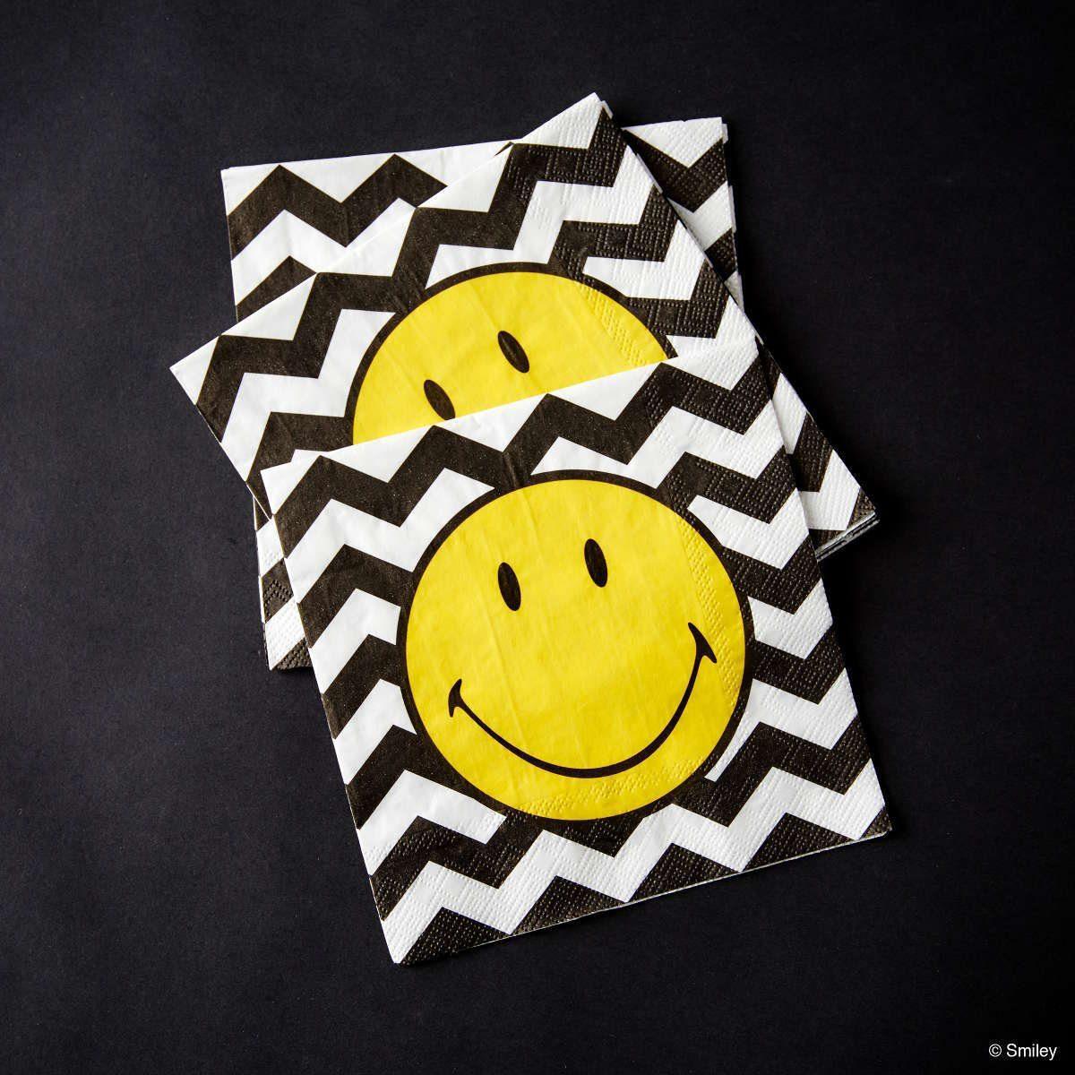 BUTLERS SMILEY »Papierserviette Smiley Wellen«