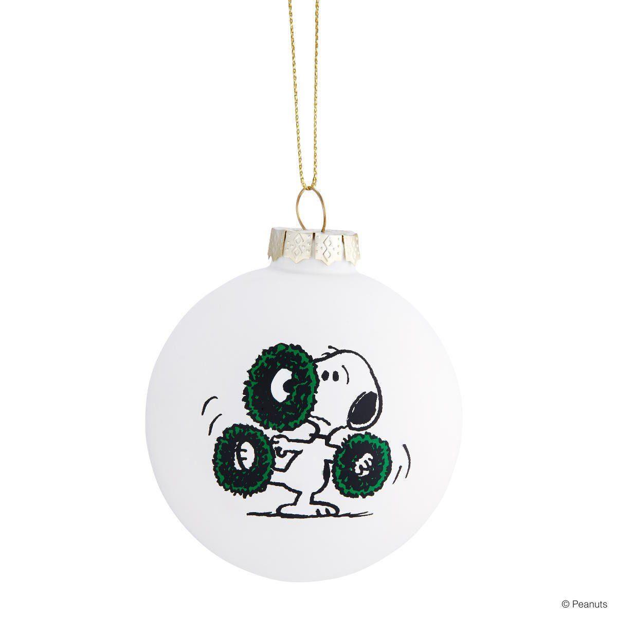 BUTLERS PEANUTS »Glaskugel Snoopy/Kränze«