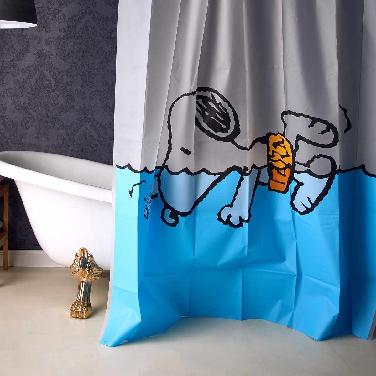 BUTLERS PEANUTS »Duschvorhang Snoopy schwimmend«