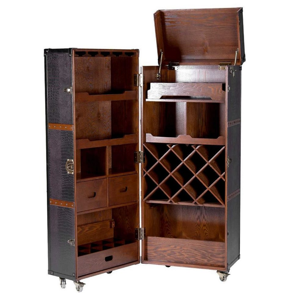 butlers hemingway koffer bar mit separatem tablett online kaufen otto. Black Bedroom Furniture Sets. Home Design Ideas