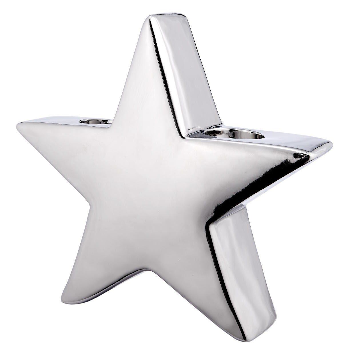 BUTLERS SILVER STONE »Teelichthalter Stern groß«