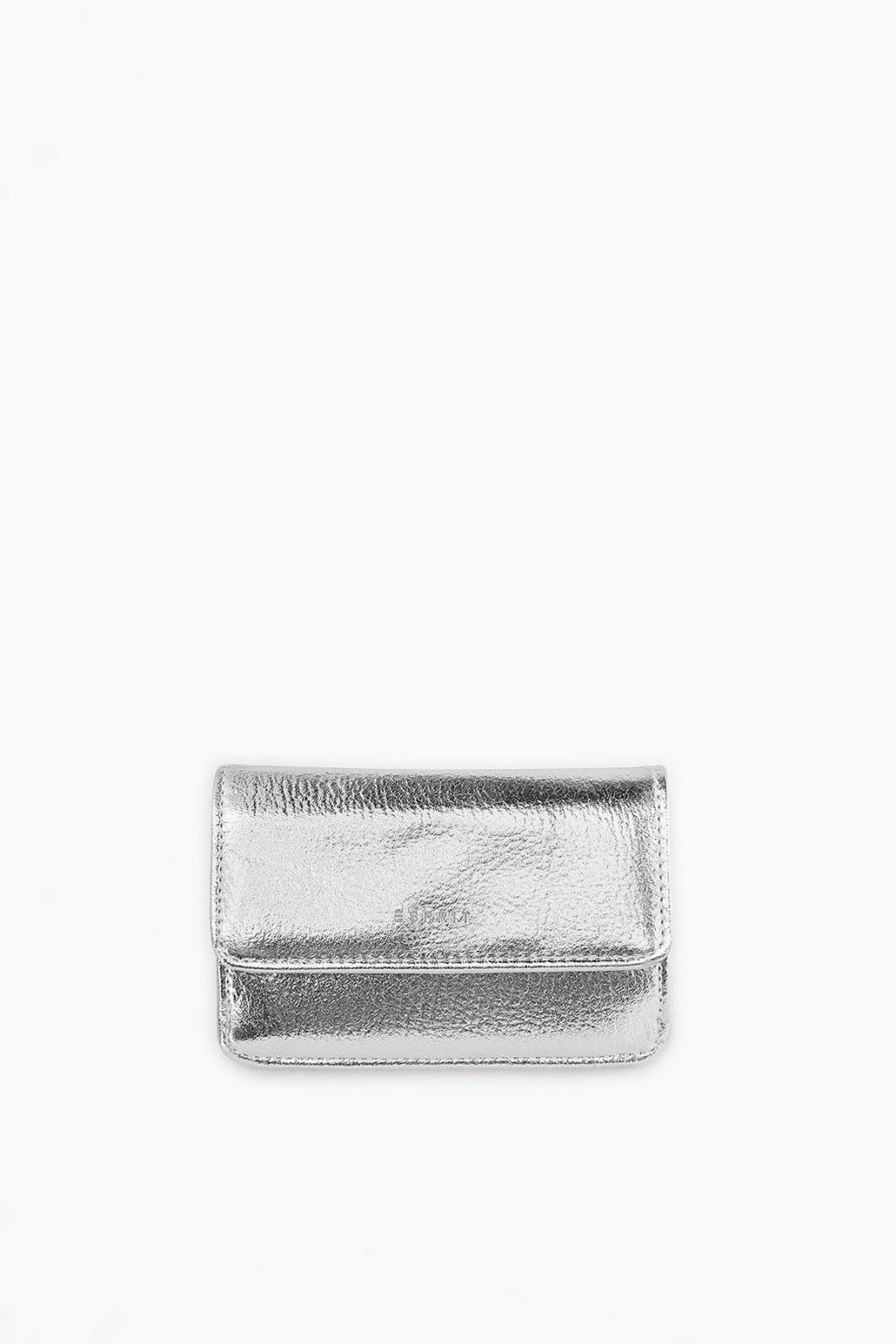 ESPRIT CASUAL Schmaler Geldbeutel im Metallic-Look