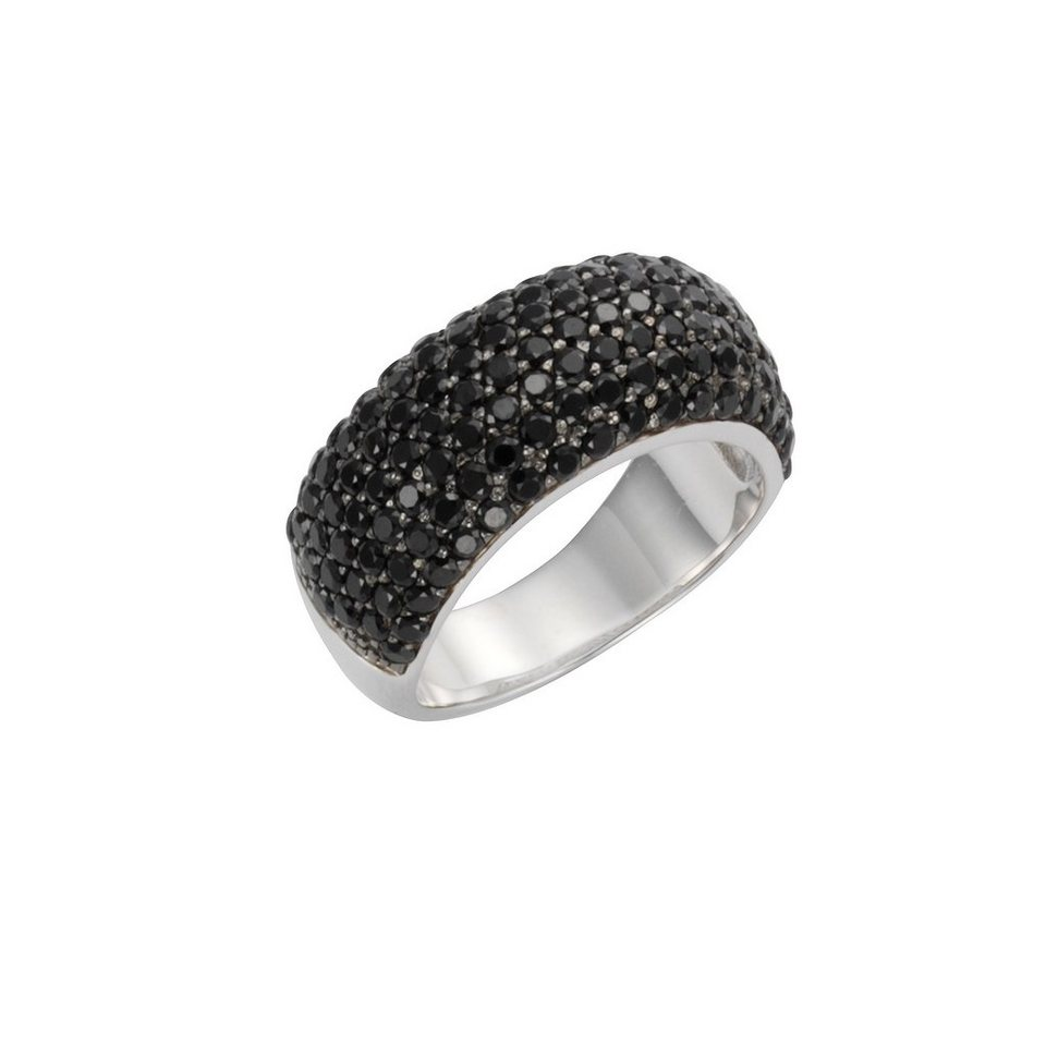 celesta ring 925 sterling silber synth spinell schwarz. Black Bedroom Furniture Sets. Home Design Ideas