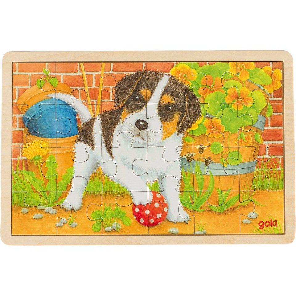 Goki Holzpuzzle 24 Teile Welpe online kaufen