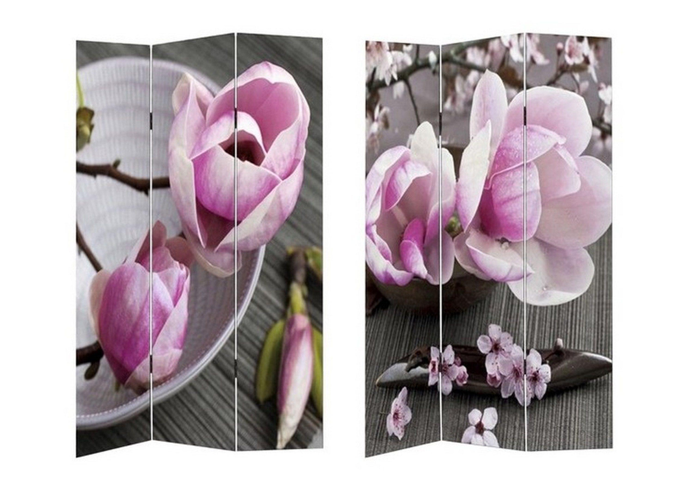 HTI-Line Paravent »Flower« | Wohnzimmer > Regale > Raumteiler | Textil - Leinen | HTI-Line