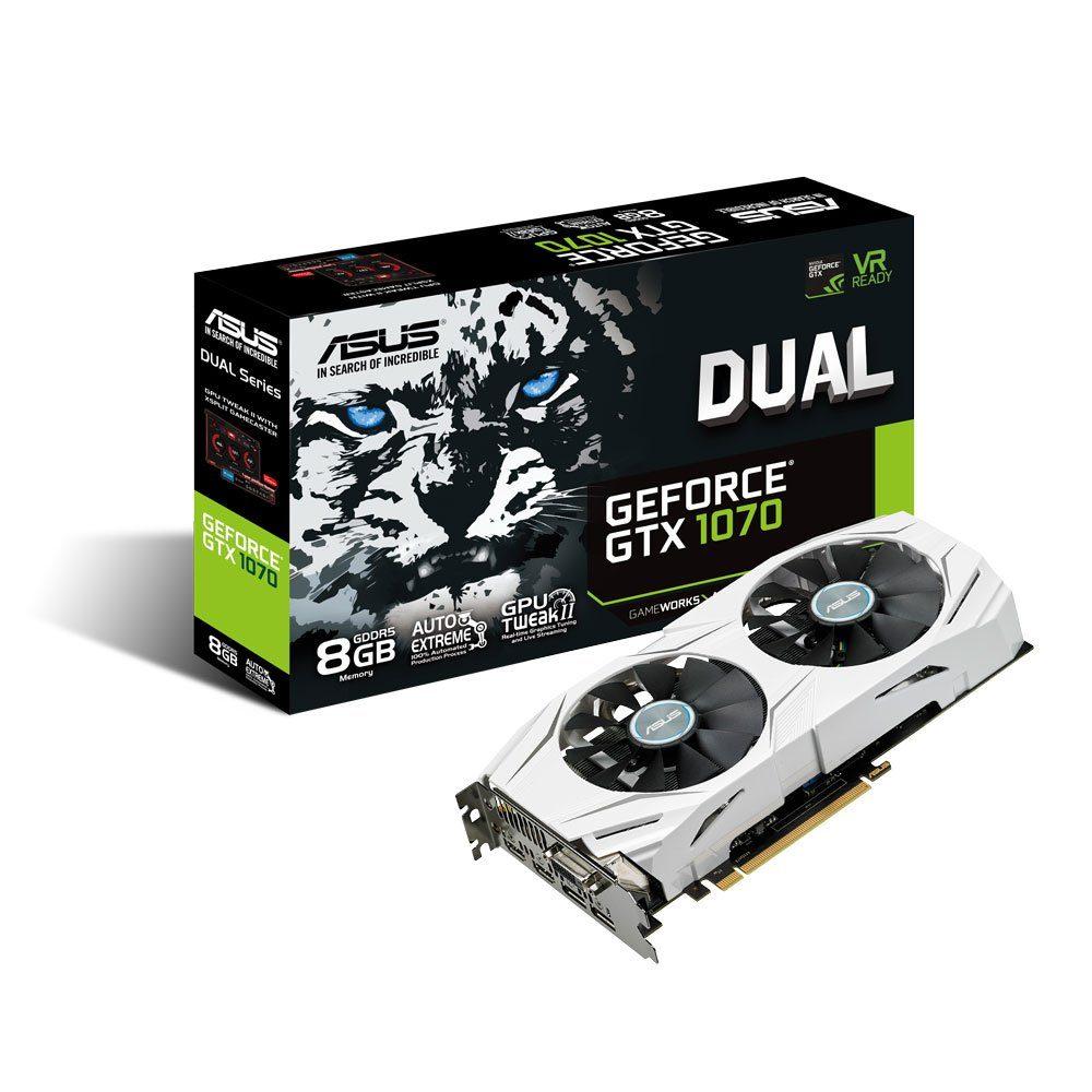 ASUS DUAL Nvidia Geforce® GTX 1070 8GB GDDR5 »90YV09T4-M0NA00«