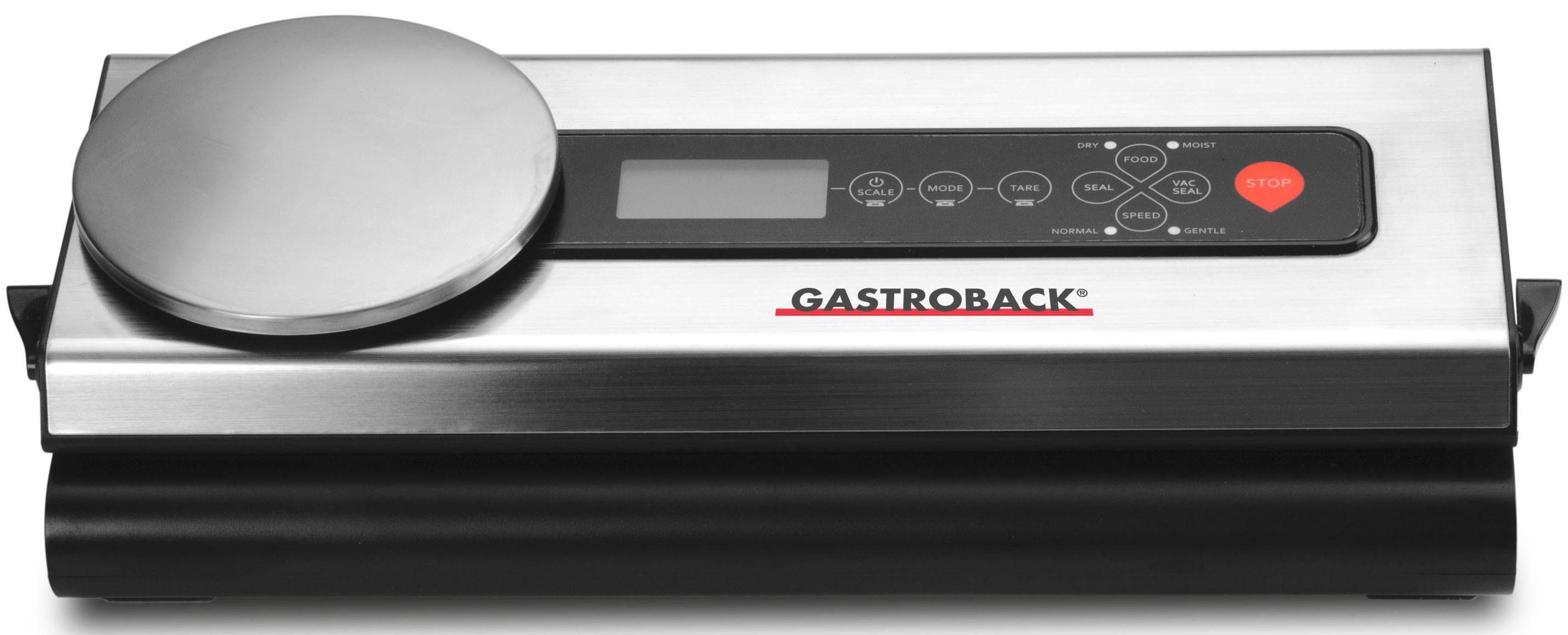 Gastroback Vakuumierer Advanced Scale 46012, 120W, inkl. 5 Folienbeutel und 1 Folienrolle