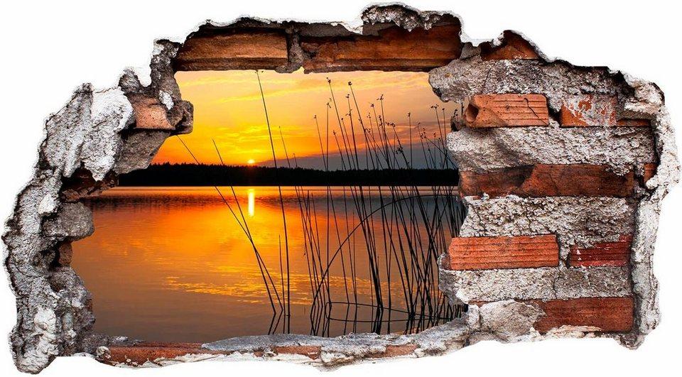 3d Wandtattoo Sonnenuntergang Am See In 4 Grossen Online Kaufen Otto