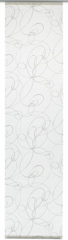 schiebegardine gardinia curling mit klettband mit silbernen paneelwagen 1 st ck mit. Black Bedroom Furniture Sets. Home Design Ideas