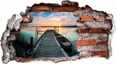 Wall-Art Wandtattoo »Sunset at the lake«