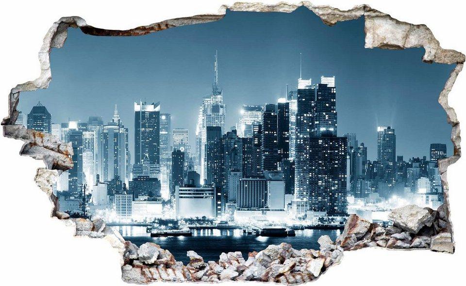 3d wandtattoo new york at night 1 100 61 cm otto. Black Bedroom Furniture Sets. Home Design Ideas