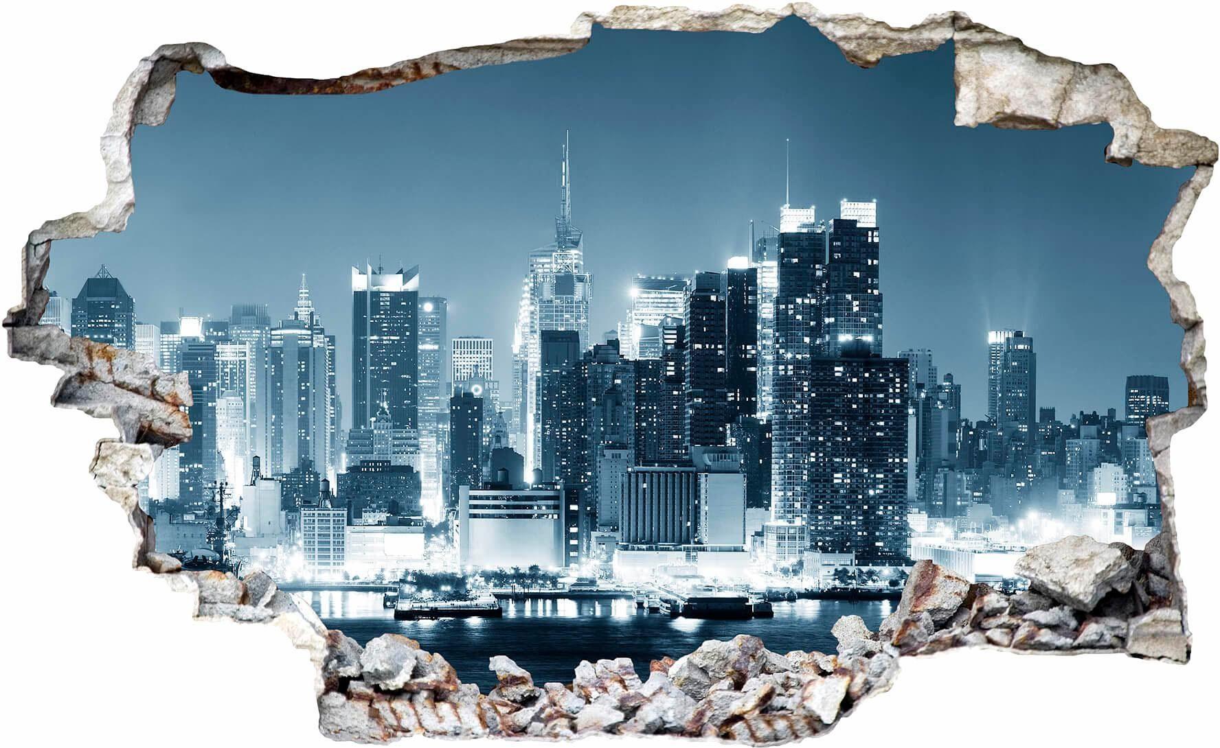 3D Wandtattoo »New York at Night 1«, 100/61 cm