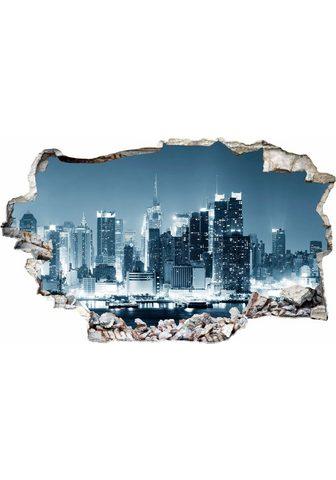 Sienos lipdukai »New York at Night 1«