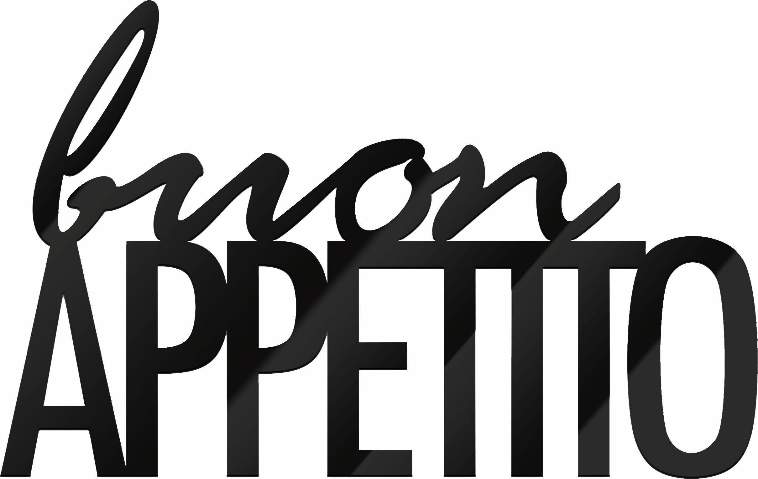 Wandbild »Buon Appetito«, Schriftzug, 48/30 cm