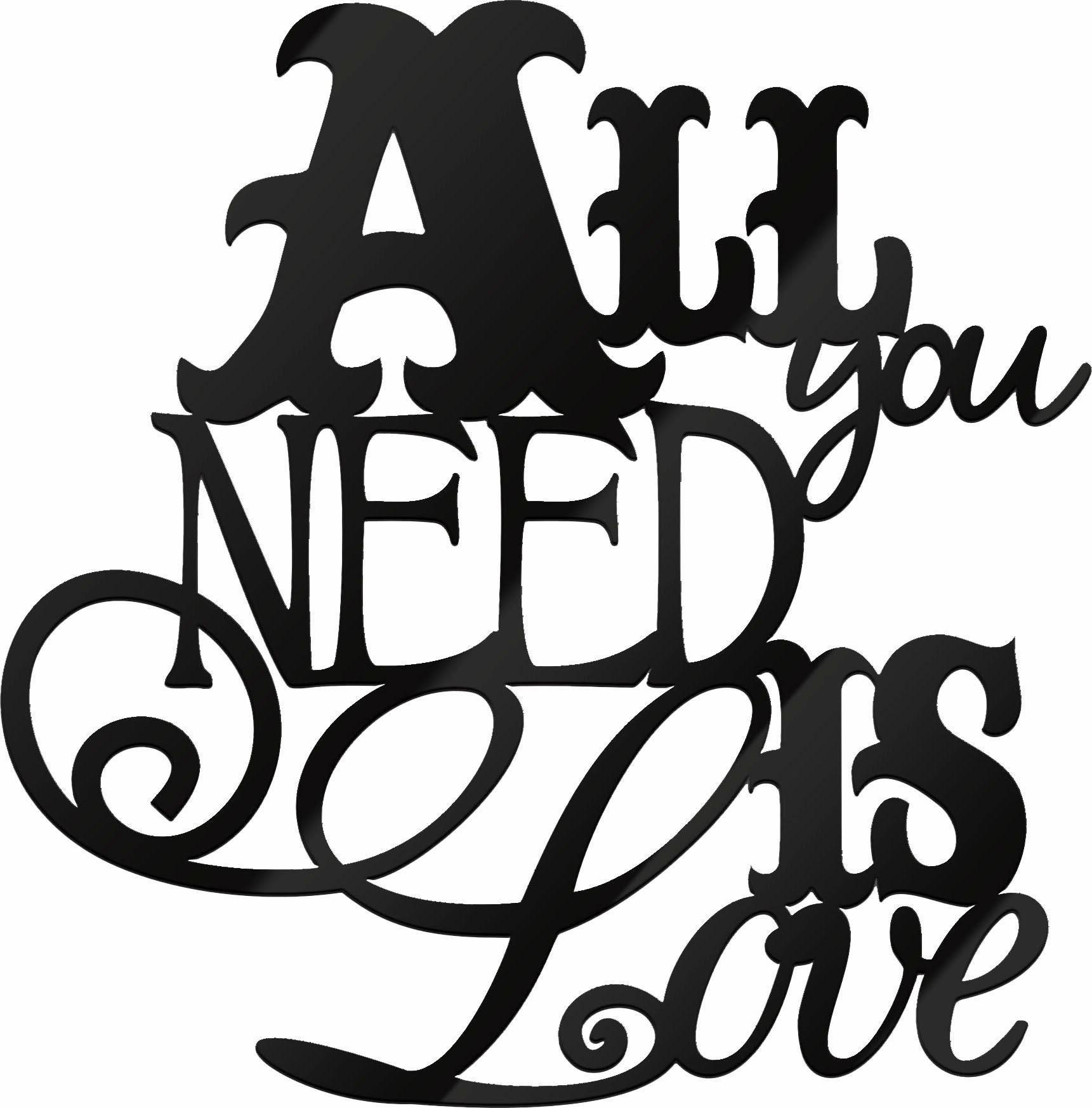 Wandbild »All you need is Love«, Schriftzug, 30/30 cm