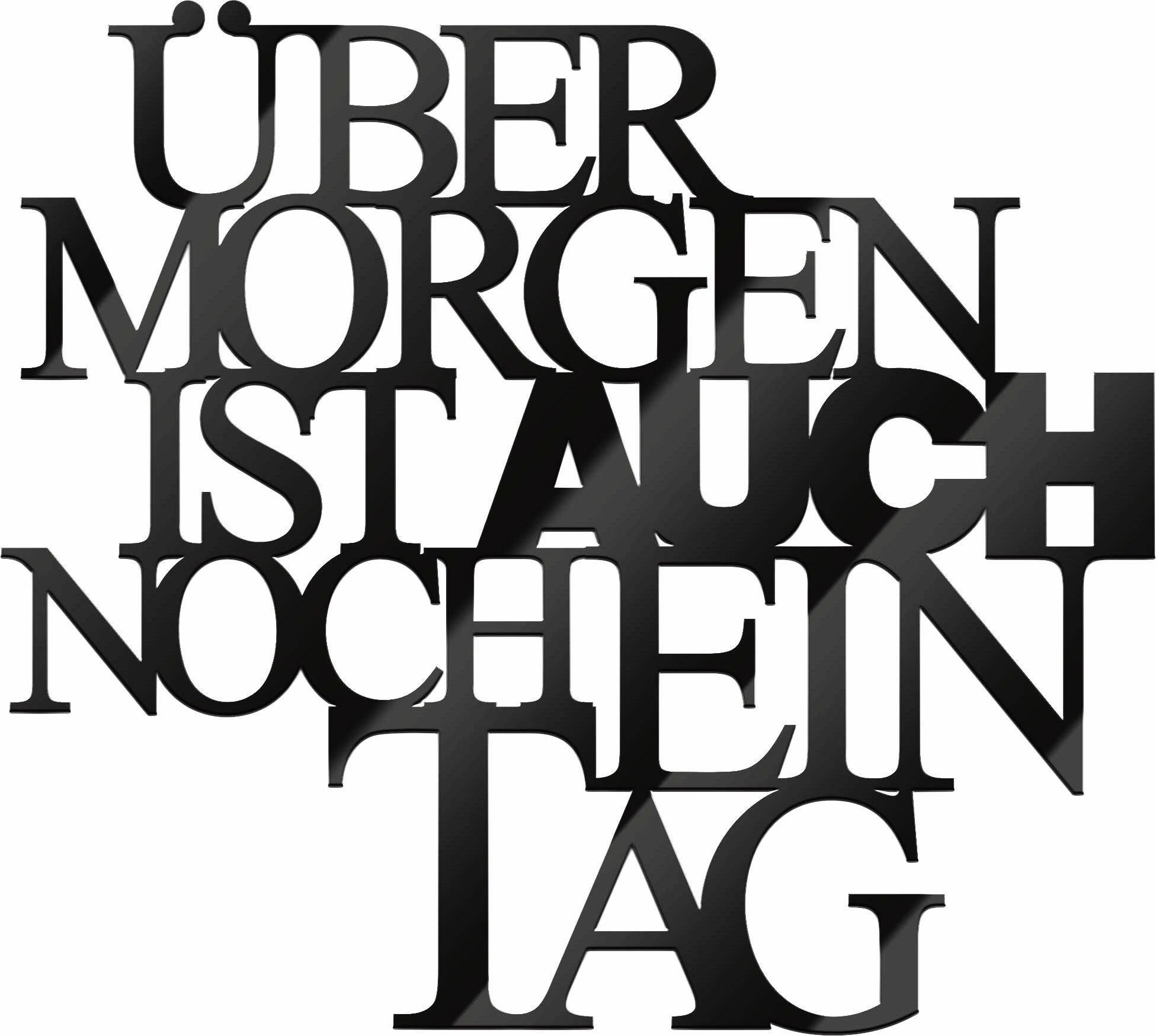 Acrylbuchstaben »Übermorgen«, 34/30 cm