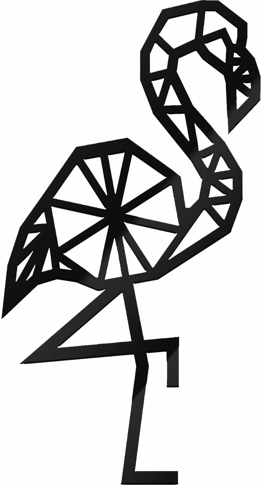 Acryldeko »Origami Flamingo«, 22/40 cm