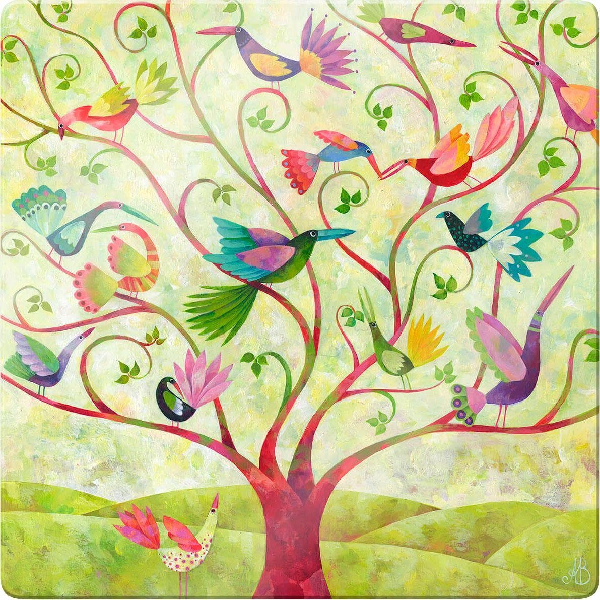 Glasbild »Blanz - Exotische Vögel«, 30/30 cm