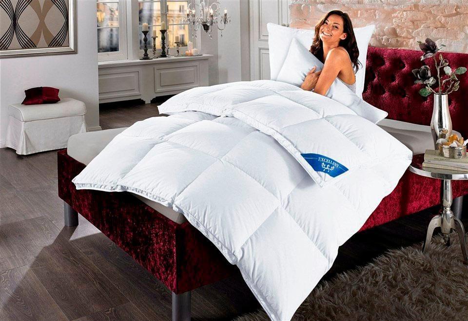 Daunenbettdecke Komfort Excellent Extrawarm Fullung 60 Daunen 40 Federn Bezug 100 Baumwolle 1 Tlg