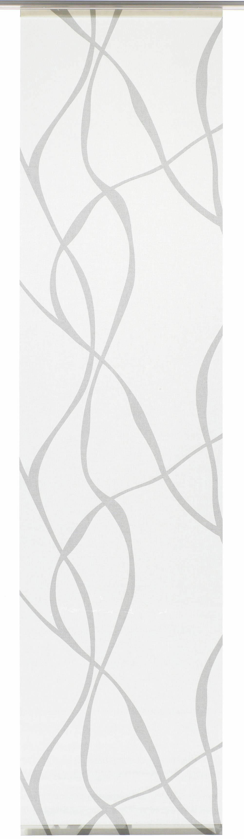 Schiebegardine, Gardinia, »Wave«, mit Klettband, mit silbernen Paneelwagen (1 Stück mit Zubehör)
