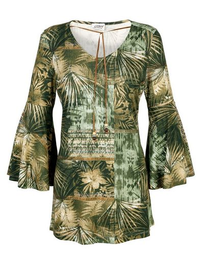 Amy Vermont Jersey Tunic With Jungle Print