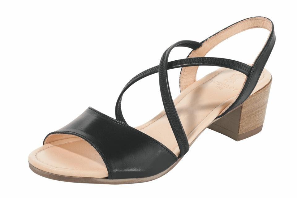 Werner Schuhe Sandalette mit Elastikriemchen  schwarz